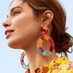 COMINGSOONAruba Beach Multicolored Rattan Earrings
